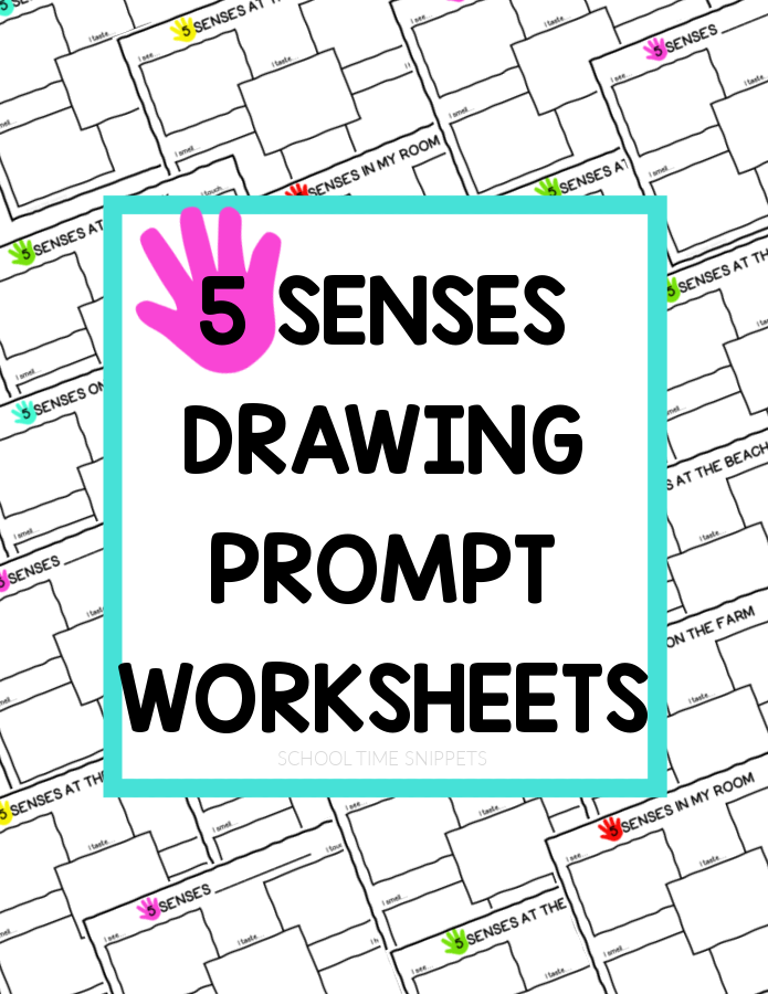 5 SENSES DRAWING PROMPT WORKSHEETS