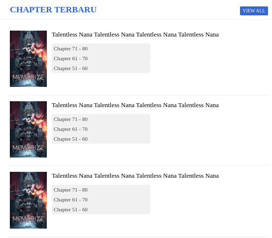 Contoh Code New Chapter Homepage