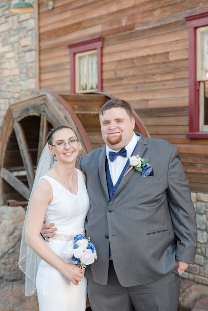 Shenandoah Mill Bride and Groom Portrait in Gilbert AZ