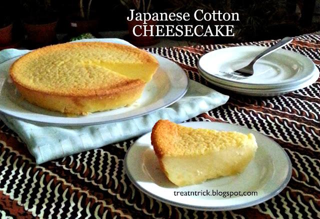 Japanese Cotton Cheesecake Recipe @ treatntrick.blogspot.com