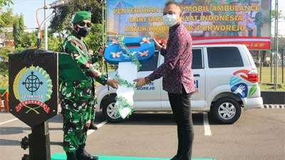 Bank BRI Beri Bantuan Satu Unit Ambulans kepada Kodim 0708/Purworejo