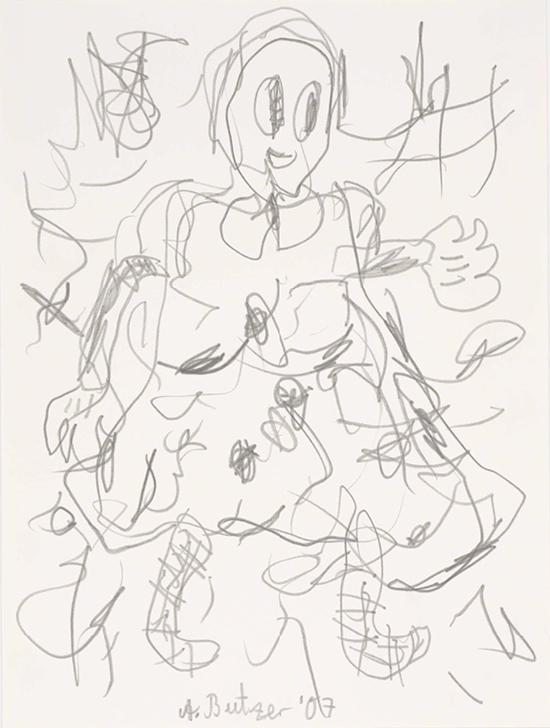 André Butzer untitled, 2007 Pencil on paper 32 × 24 cm