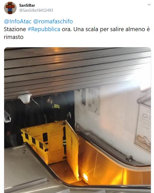 Situazione del trasporto pubblico di Roma di venerdì 15 novembre