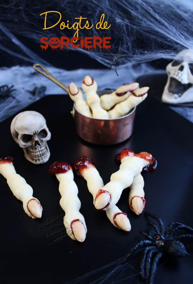 recette d'halloween doigts