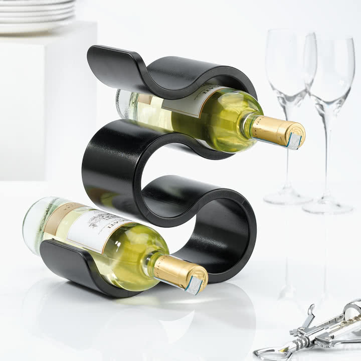 wine rack in home decor