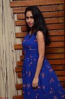 Pallavi Dora Actress in Sleeveless Blue Short dress at Prema Entha Madhuram Priyuraalu Antha Katinam teaser launch 019.jpg