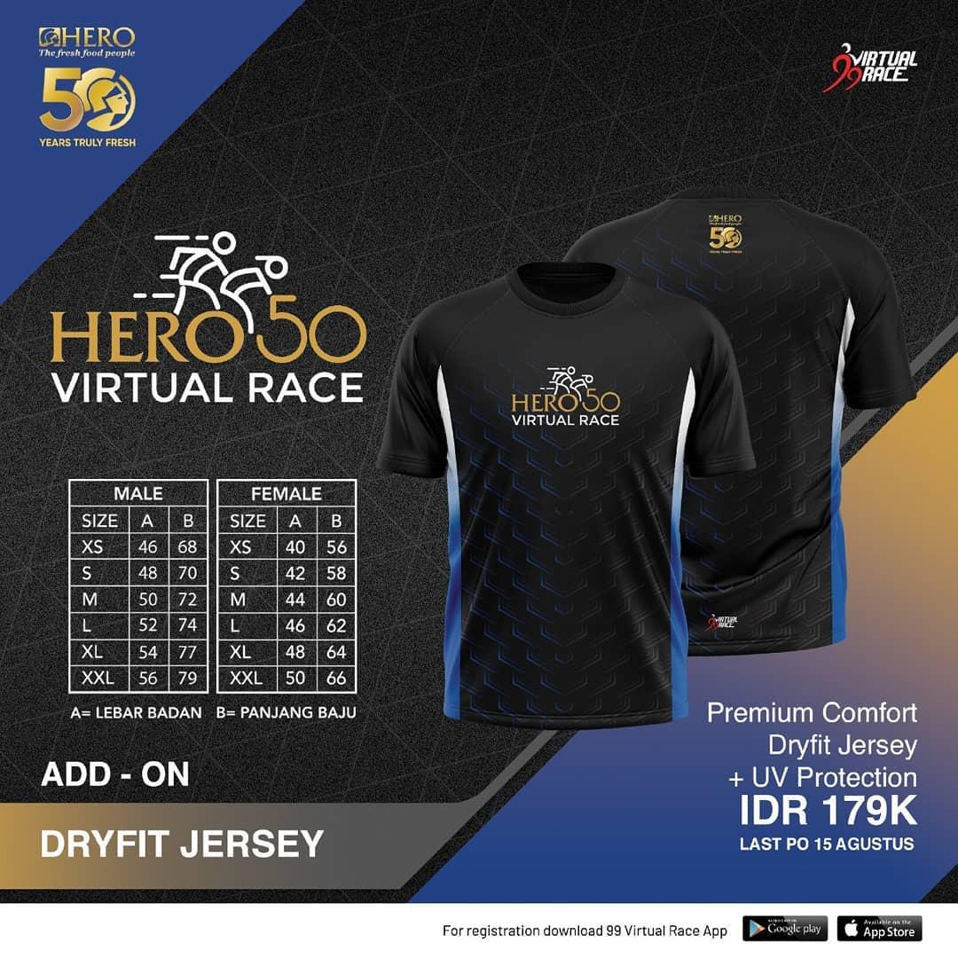 Running Jersey 👕 Hero 50 Virtual Race • 2021