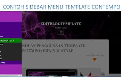 Cara memasang navigasi menu pada sidebar blogger terbaru