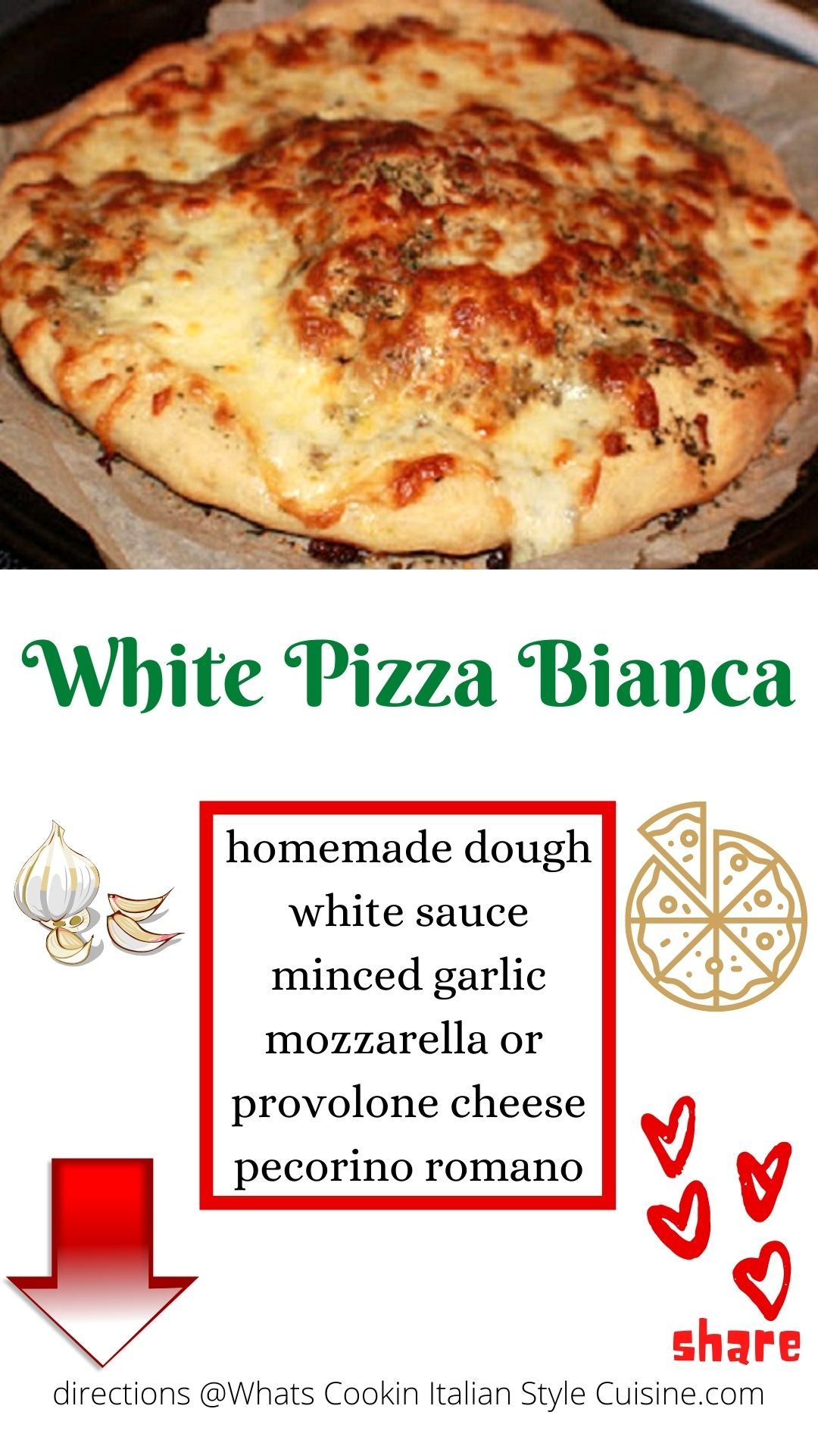 pin for later how to make white pizza bianca
