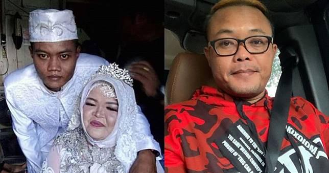 Viral Foto Pernikahan Pasangan Asal Kalimantan Tengah, Wajah Mempelai Pria Mirip Komedian Sule