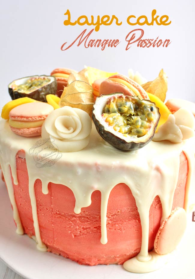gateau mangue fruits de la passion