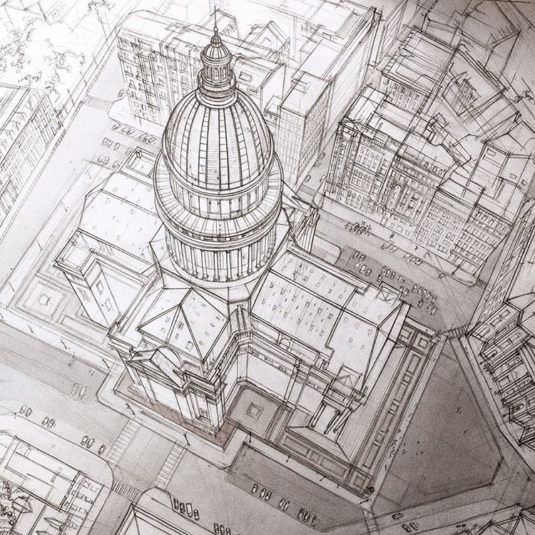 01-Pantheon-France-Adelina-Gareeva-Detailed-Architectural-Recreations-and-Concept-Drawings-www-designstack-co