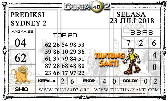 """Prediksi Togel """"SYDNEY 2"""" DUNIA4D2 23 JULI 2019"""
