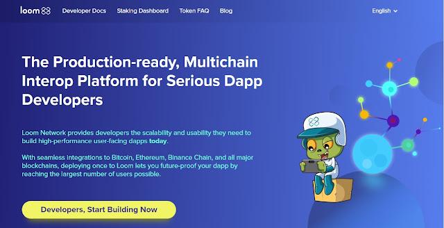 Screenshot Tampilan Website Loom Network (LOOM)