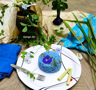 Blue butterfly pea flower Rice