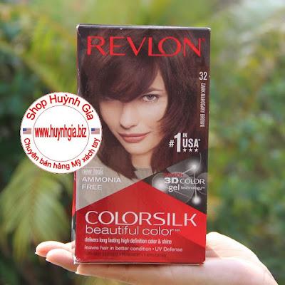 Thuốc nhuộm tóc Revlon ColorSilk 3D 32 hàng Mỹ xách tay www.huynhgia.biz