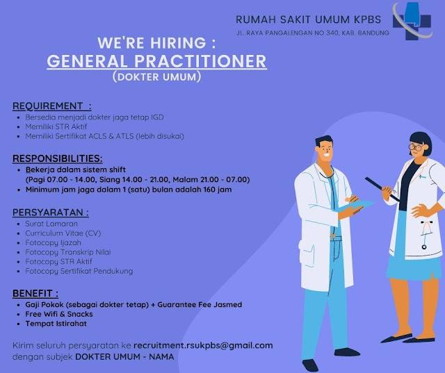 Loker Dokter Umum Rumah Sakit Umum KPBS Bandung