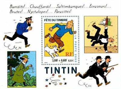 Postage Stamp Sheet  Tintin  Herge