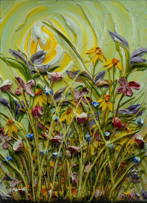 Flower Paintings By Justin Gaffrey