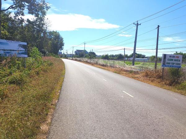 ảnh thực tế đoạn đường tl328 và vị trí đất hồ tràm cần bán tại Hồ Tràm
