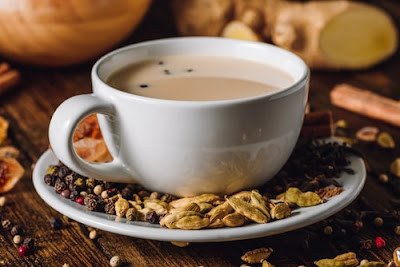 In the composition of Yogi Tea there are many spices, fragrant medicinal plants and fruits. It is usually prepared from a mixture of cardamom, clove, ginger, cinnamon, pepper, Greece seed, anise and much more with added milk.