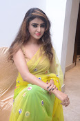 Sony Charista sizzling look in saree-thumbnail-7