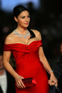 Monica Bellucci In Fast Red Outfit