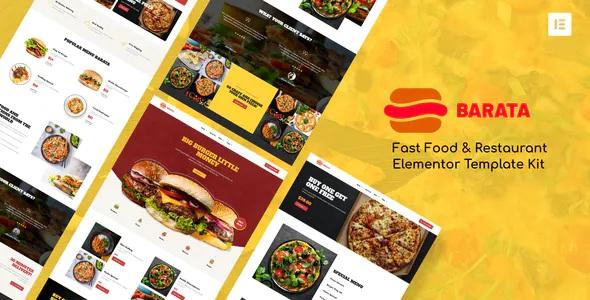 Best Fast Food & Burger Elementor Template Kit