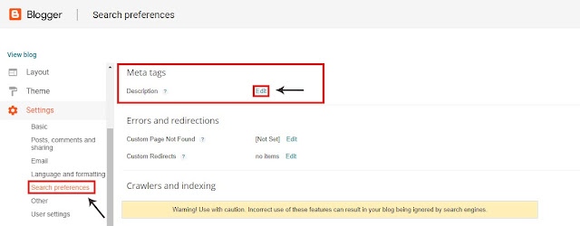 """From the left navigation panel on your homepage, select Settings and from which select """"Search Preference"""" menu"""