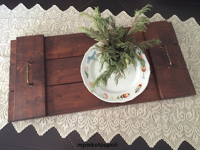a rustic tray