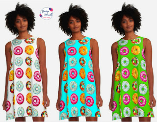 donuts-pattern-a-line-dress-by-yamy-morrell