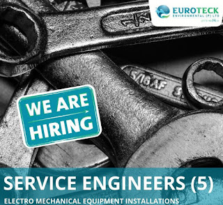 ITI and Diploma Holders Hiring for Multiple Service Engineers in Euroteck Environmental Pvt Limited Hyderabad, Telangana