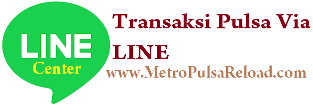 LINE center MetroPulsaReload.com