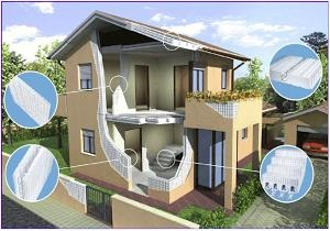 Komponen Bangunan Gedung menggunakan M-System