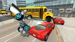 Games Flying Car Robot Simulator Apk