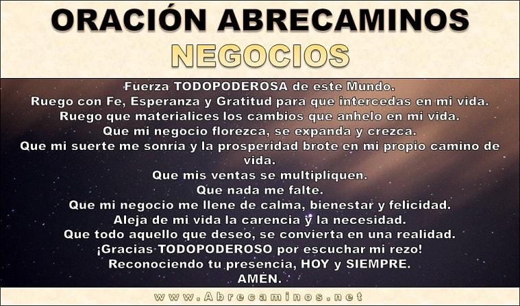 Oración Abre Caminos Negocios