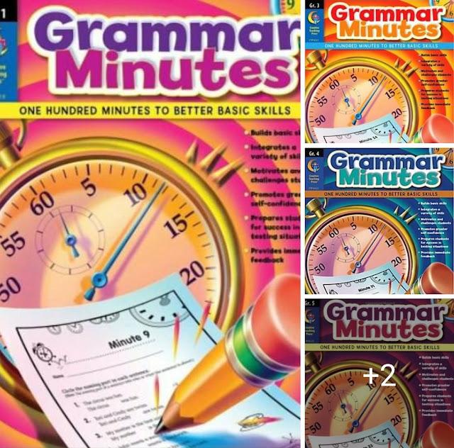 Grammar Minutes (Grades 1, 3, 4, 5, 6)