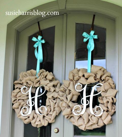 Diy Wreaths For Front Door: Susie Harris: Burlap Wreath DIY