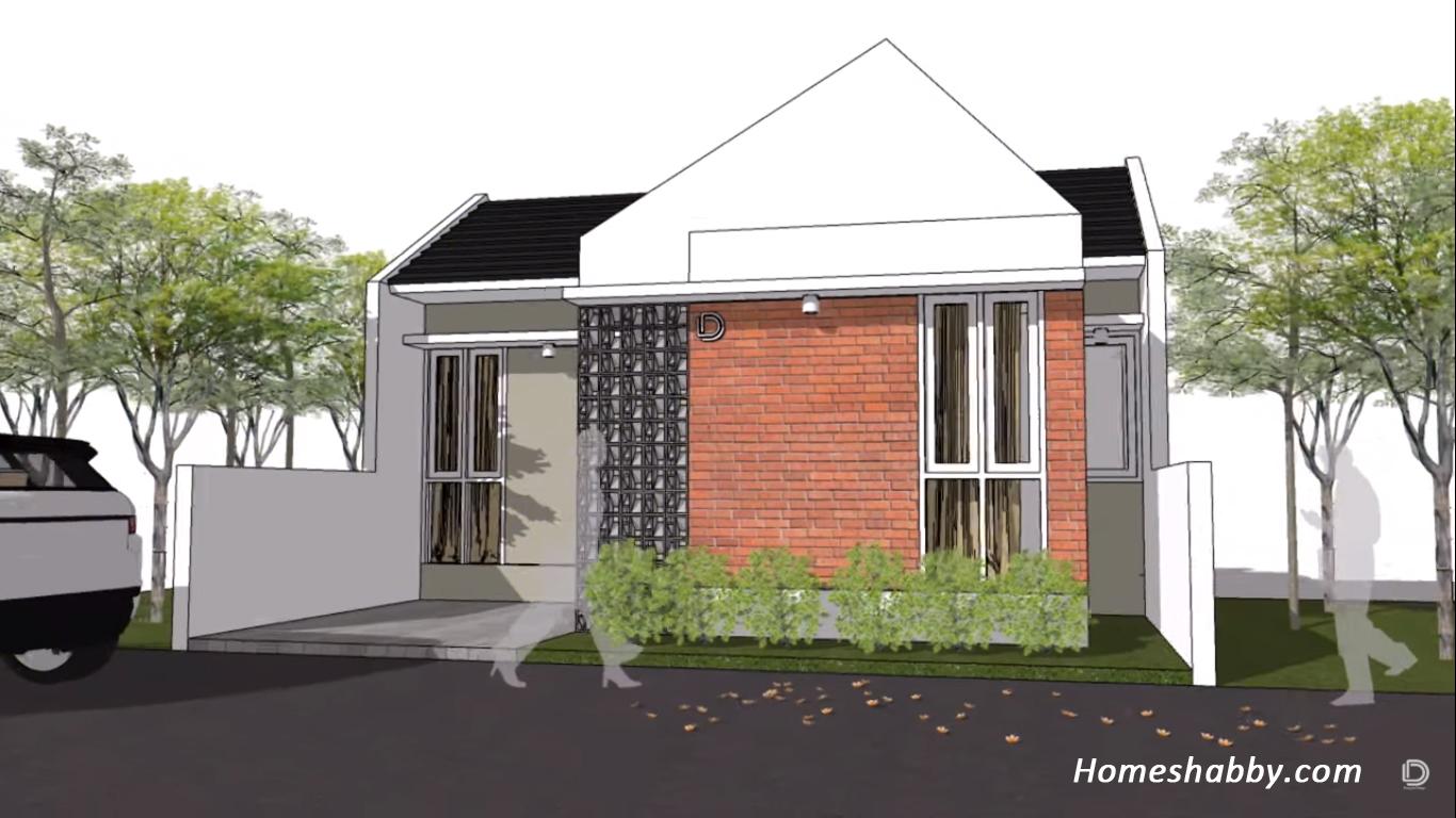Rumah Hemat Biaya Desain Dan Denah Rumah Minimalis Ukuran 8 X 10 M Yang Elegan Dan Modern Homeshabby Com Design Home Plans Home Decorating And Interior Design