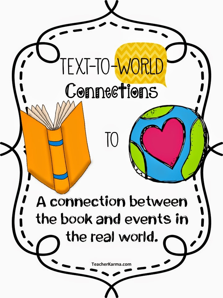 Making connections to text.  teacherkarma.com