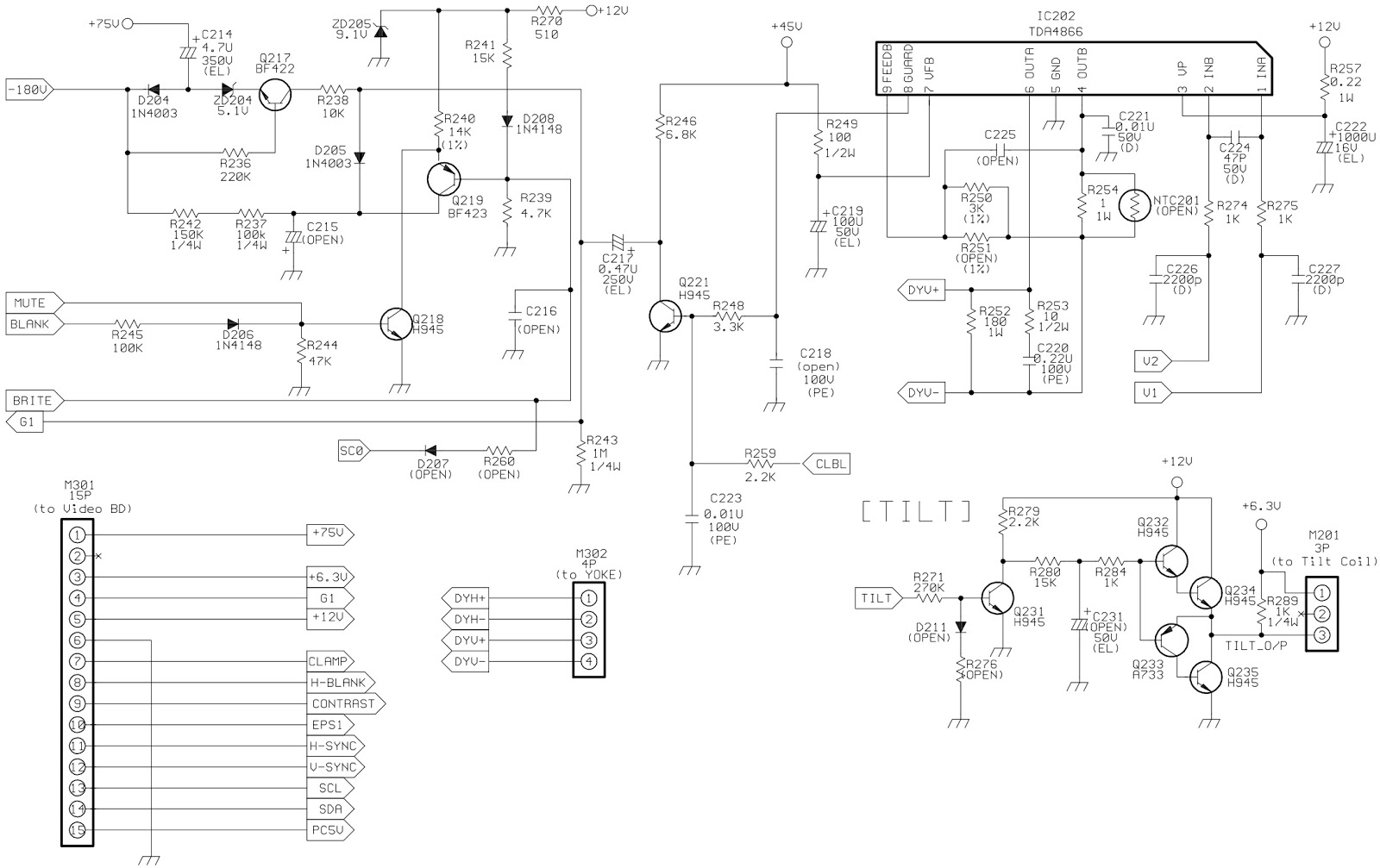 Crt Monitor Schematic Diagram Lg Circuit Wire T V Free Download Hp D2825 Acer 7254 Full Electro Help