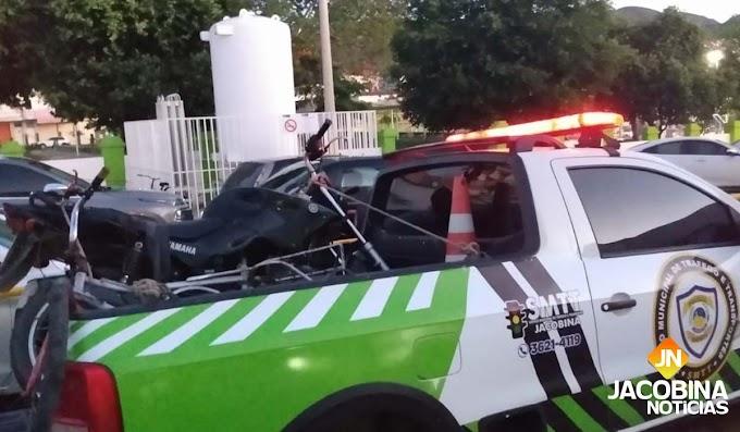 Jacobina: SMTT prende motociclista embriagado após atropelar entregador de pão
