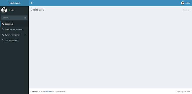 Halaman Dashboard Awal - Sistem Manajemen Karyawan