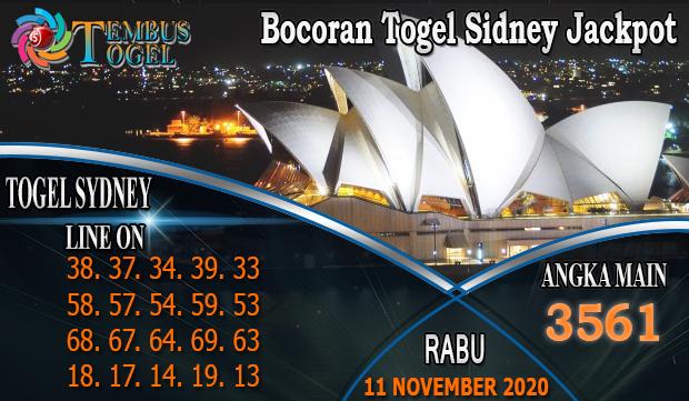 Bocoran Togel Sidney Jackpot Hari Rabu 11 November 2020