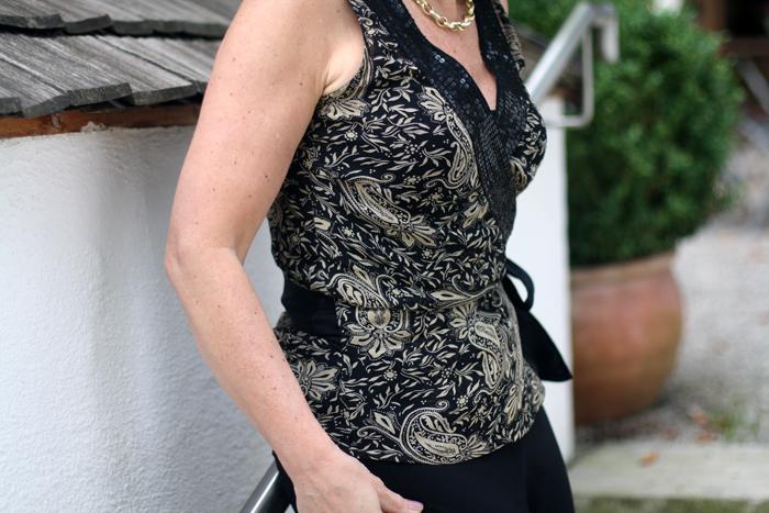 Black Elegant Wideleg Normal Kamali Trousers