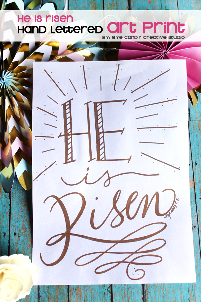 easter art print, faith, inspirational, faith-based, hand lettered, lettering