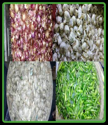 মশলা-আদা,পেঁয়াজ,রসুন,লঙ্কা,spice,ginger,onion,garlic,chilly