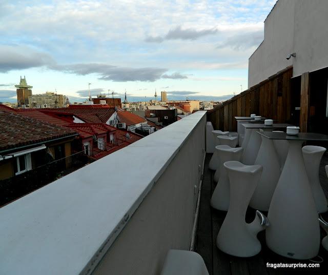 Terraço do Hotel Sidorme Fuencarral 52, em Chueca, Madri