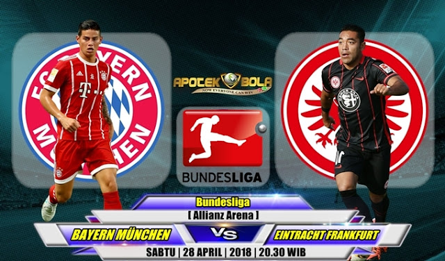 Prediksi Bayern Munich vs Eintracht Frankfurt 28 April 2018