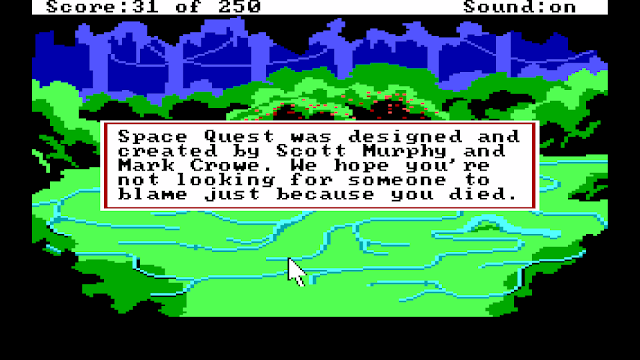 Screenshot from Space Quest II